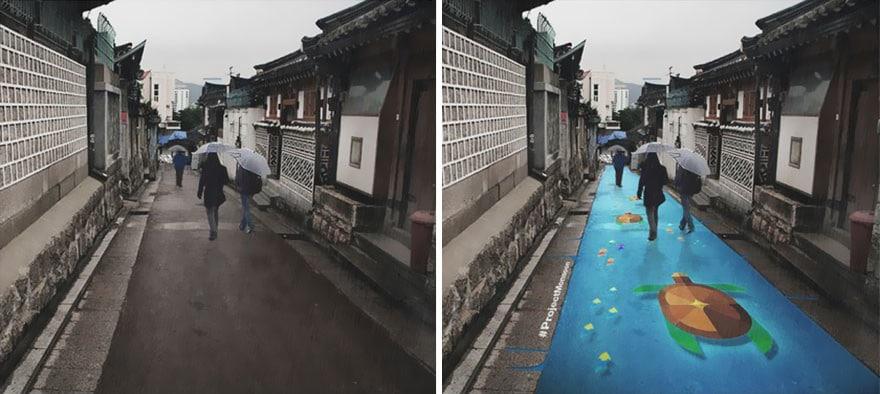 дождь в Сеуле