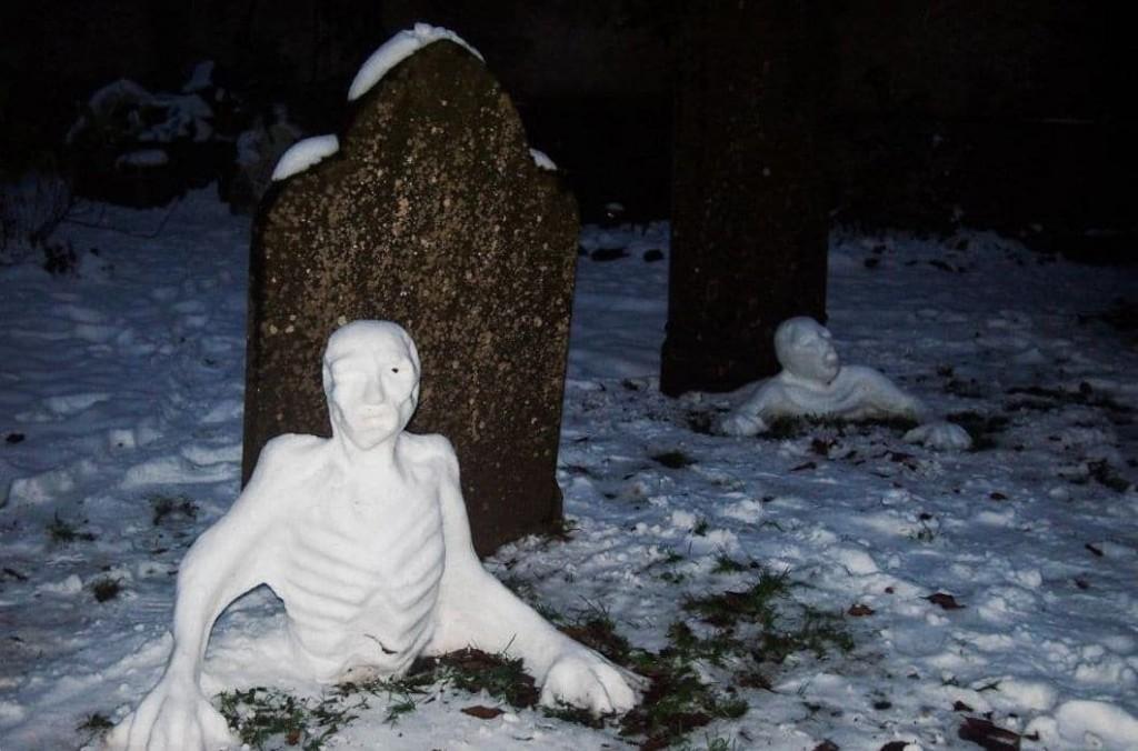 яркие снеговики рис 5