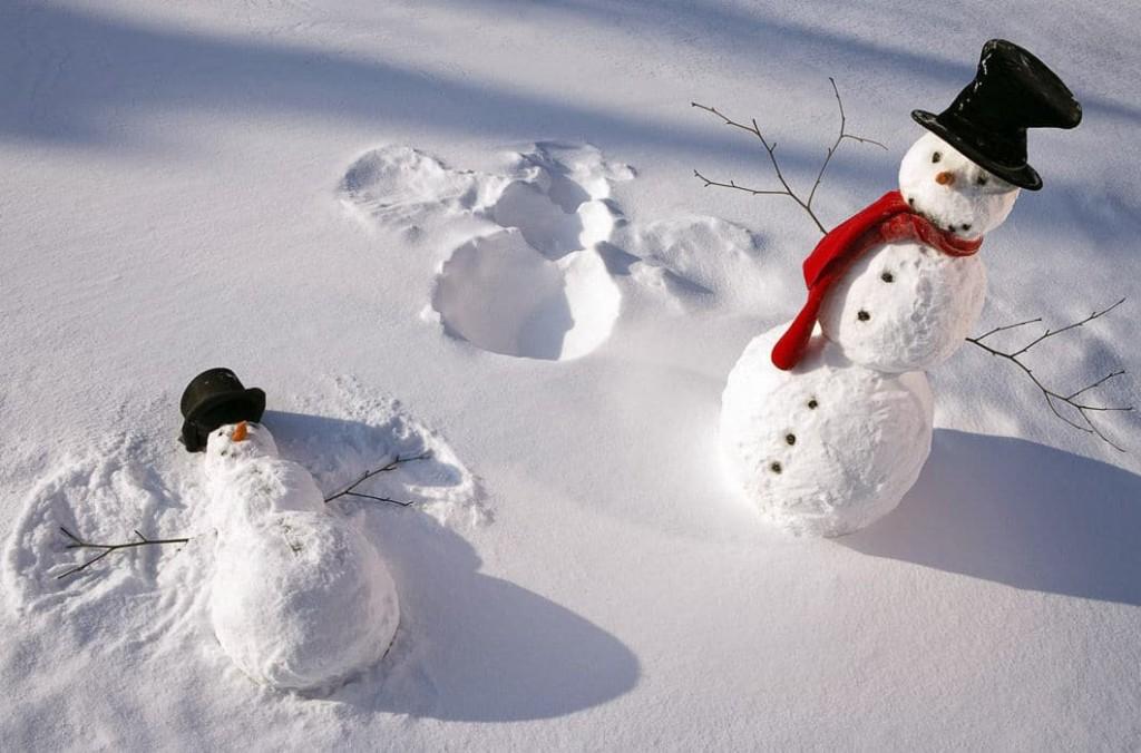 яркие снеговики рис 4