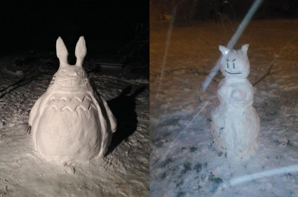 яркие снеговики рис 3