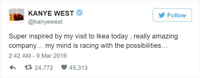 Вот такой Кардаш! IKEA и ее поклонники троллят Канье Уэста рис 2