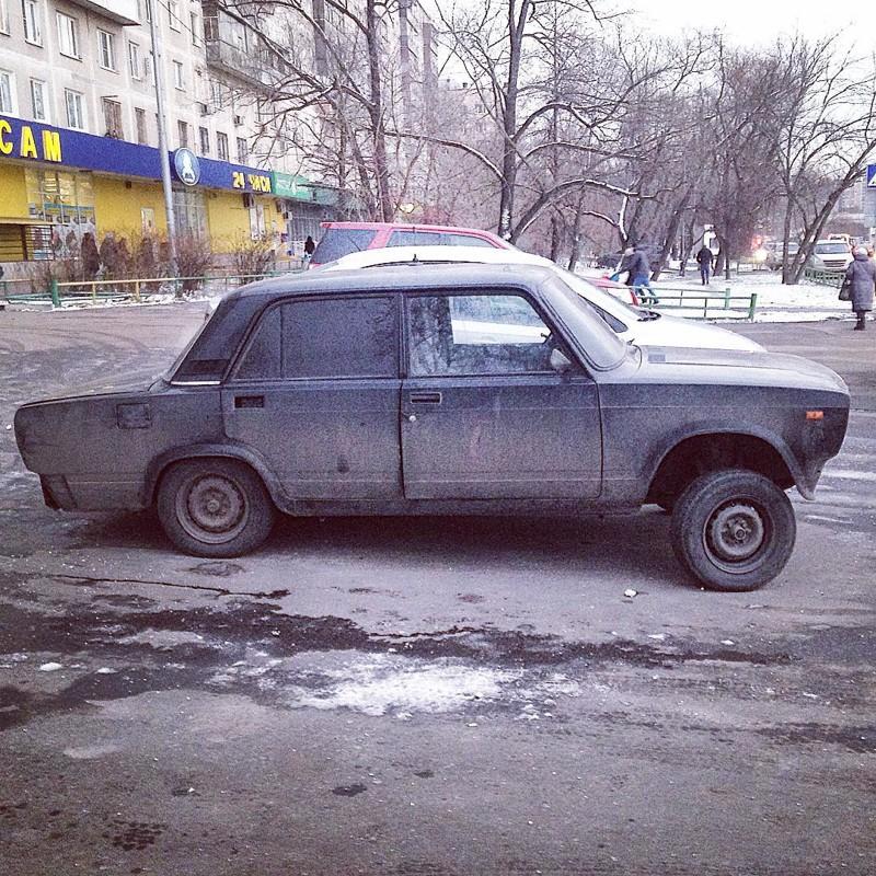Четыре колеса и жесткий автоугар рис 9