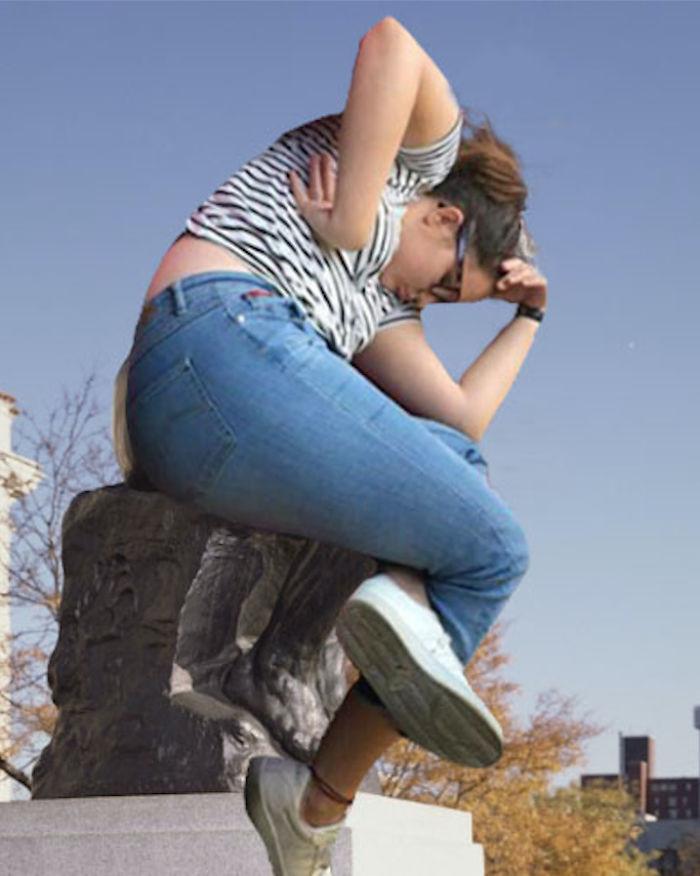Девушка уснула в библиотеке: битва фотошоперов рис 7