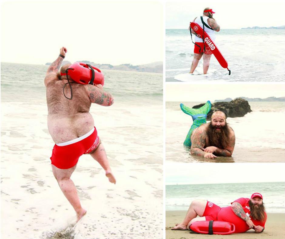 Пляжный бродуар этого парня поднял планку для фотосессий на новый уровень