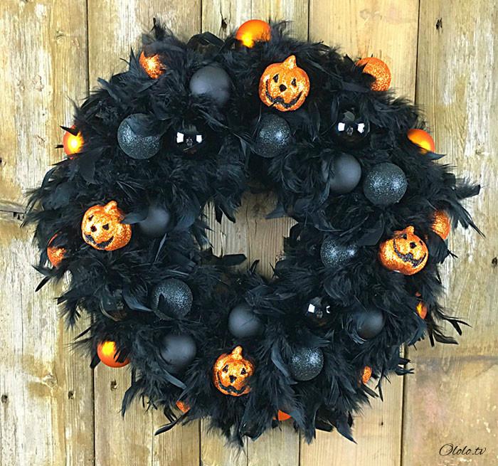 Новая мода на Хэллоуин: страшные венки для украшения дверей рис 15