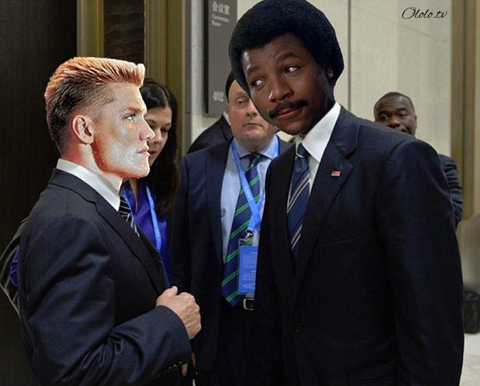 Пронзительный взгляд Обамы и Путина с упоением троллят в сети: фото-пародии со всего света рис 8