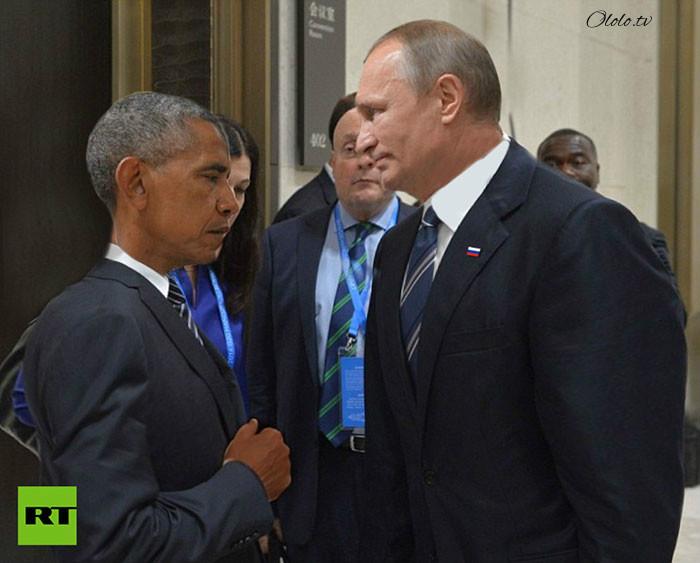 Пронзительный взгляд Обамы и Путина с упоением троллят в сети: фото-пародии со всего света рис 7