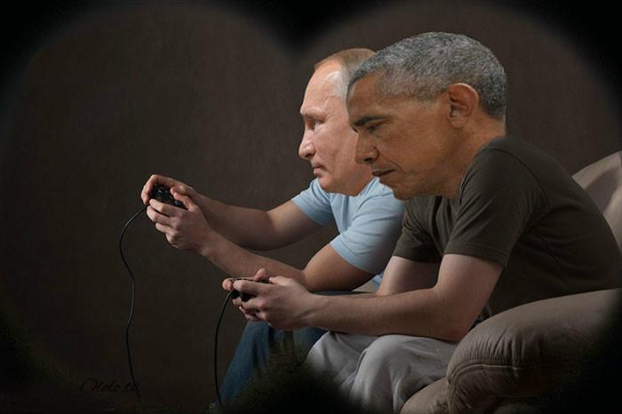 Пронзительный взгляд Обамы и Путина с упоением троллят в сети: фото-пародии со всего света рис 4