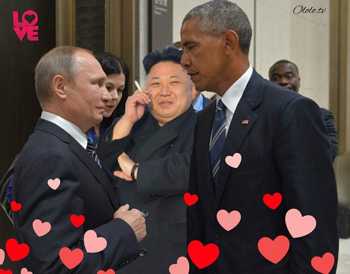 Пронзительный взгляд Обамы и Путина с упоением троллят в сети: фото-пародии со всего света рис 3