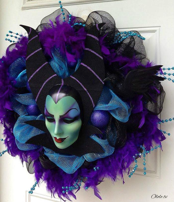 Новая мода на Хэллоуин: страшные венки для украшения дверей рис 3