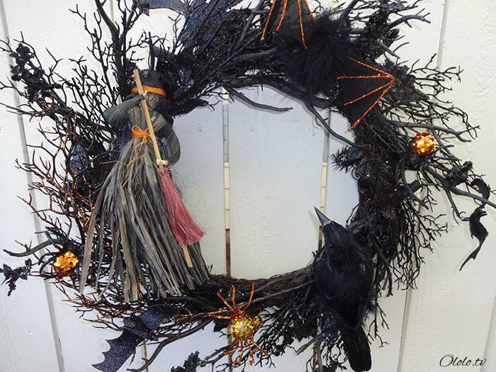Новая мода на Хэллоуин: страшные венки для украшения дверей рис 2