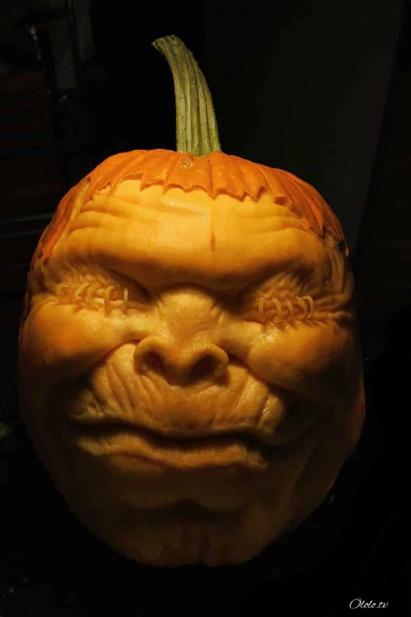 Мороз по коже: самые жуткие тыквы на Хэллоуин
