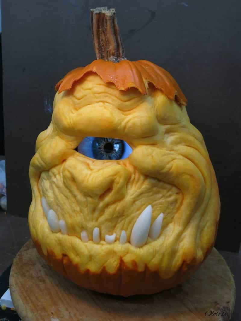 Мороз по коже: самые жуткие тыквы на Хэллоуин рис 9