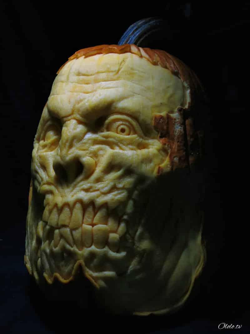 Мороз по коже: самые жуткие тыквы на Хэллоуин рис 4