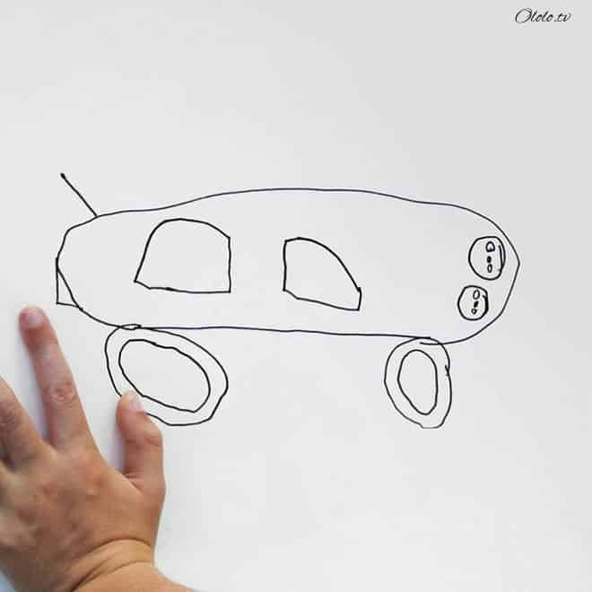 Папа превращает рисунки своего маленького сына в реальность