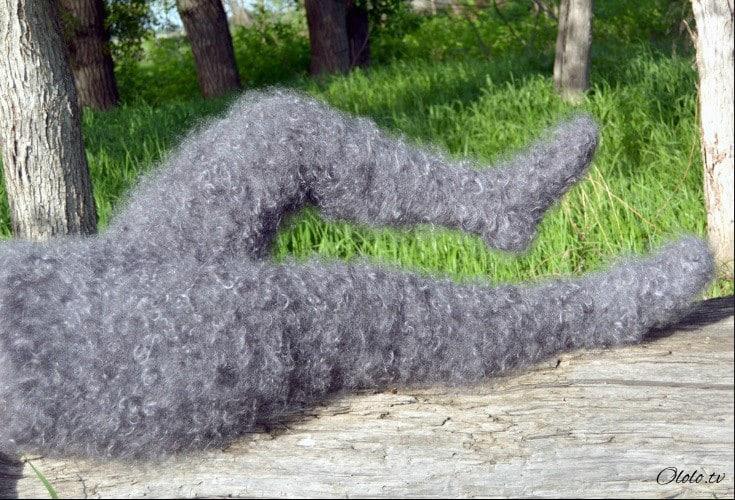 Оренбургские пуховые лосины: и носятся, и колются