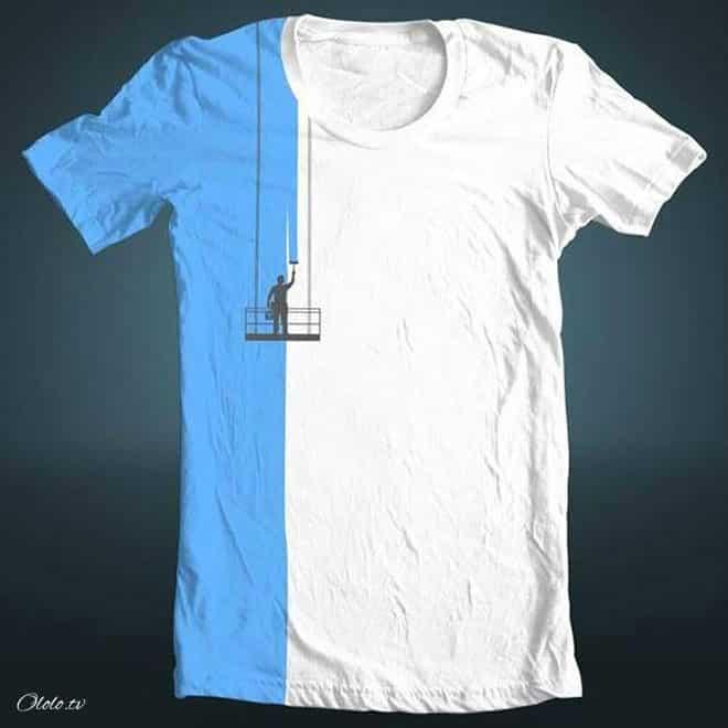 Креативные футболки, которые вы точно захотели бы себе купить рис 8
