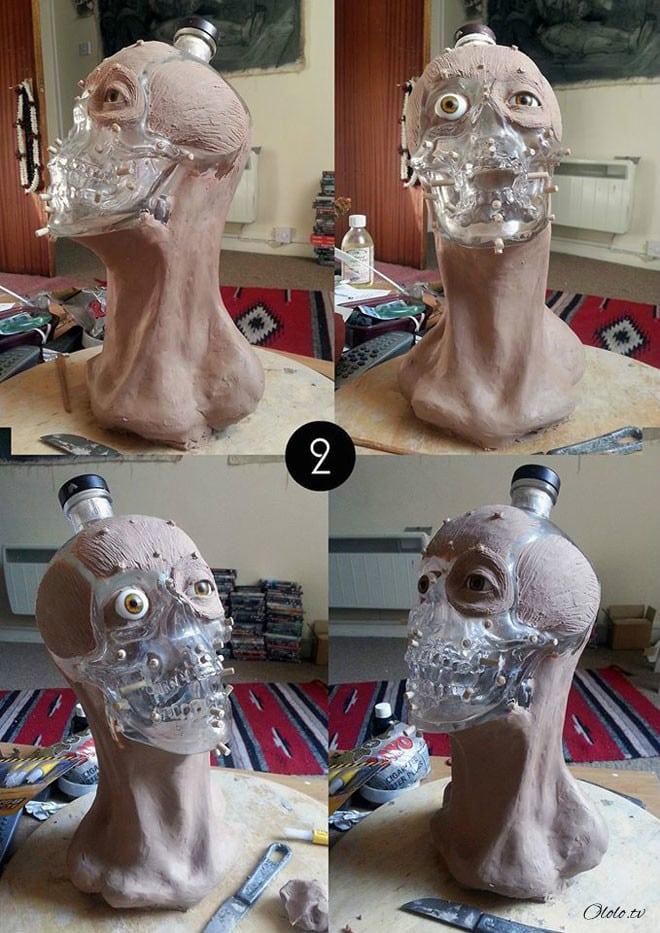 Художник-криминалист купил бутылку водки в виде стеклянного черепа и восстановил её лицо рис 2