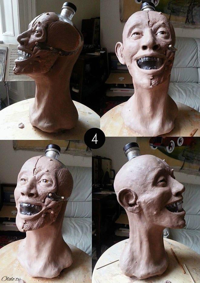 Художник-криминалист купил бутылку водки в виде стеклянного черепа и восстановил её лицо рис 4