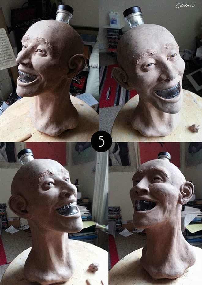 Художник-криминалист купил бутылку водки в виде стеклянного черепа и восстановил её лицо рис 5