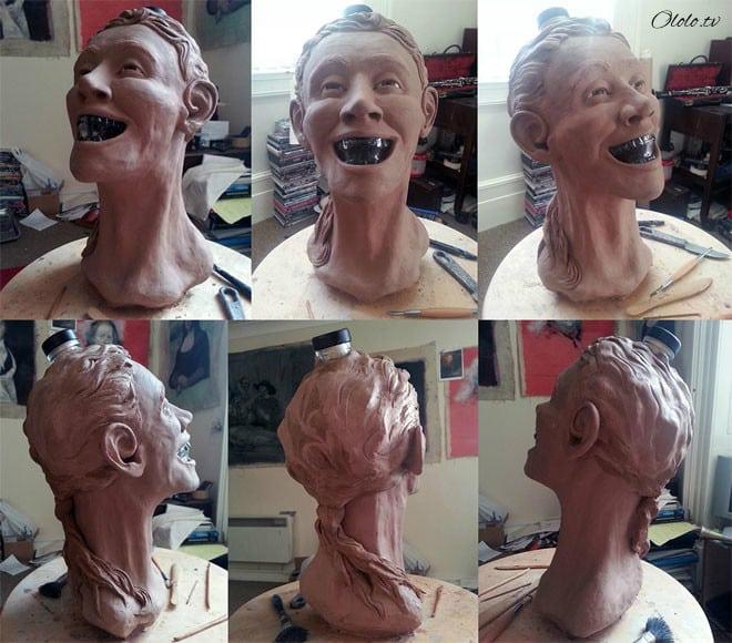 Художник-криминалист купил бутылку водки в виде стеклянного черепа и восстановил её лицо рис 6