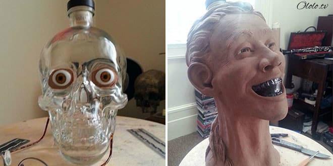 Художник-криминалист купил бутылку водки в виде стеклянного черепа и восстановил её лицо рис 7