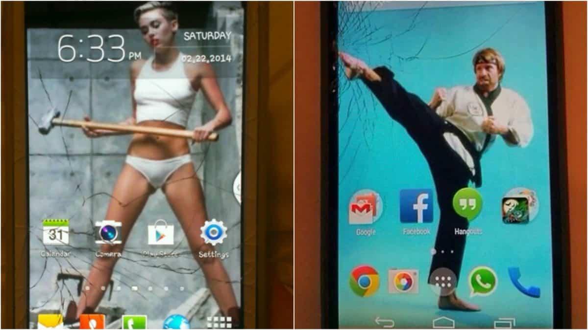 Креативные люди, которые творчески подошли к треснутому экрану на своём мобильнике