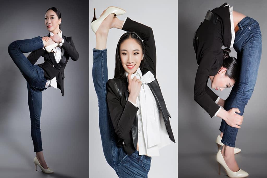 Китайская «Гуттаперчевая девушка» демонстрирует чудеса гибкости