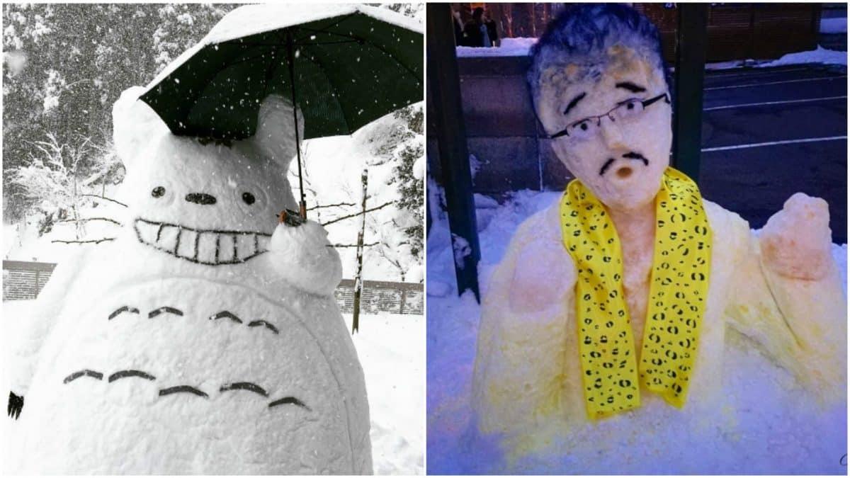Когда в Японии выпадает снег, нельзя просто так взять и слепить снеговика