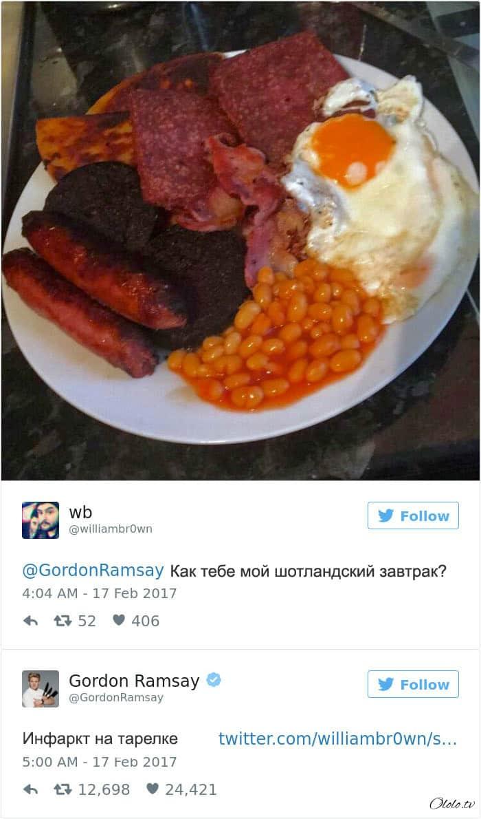 Эти люди пожалели, что решили показать свои блюда в твиттере повару Гордону Рамзи рис 5