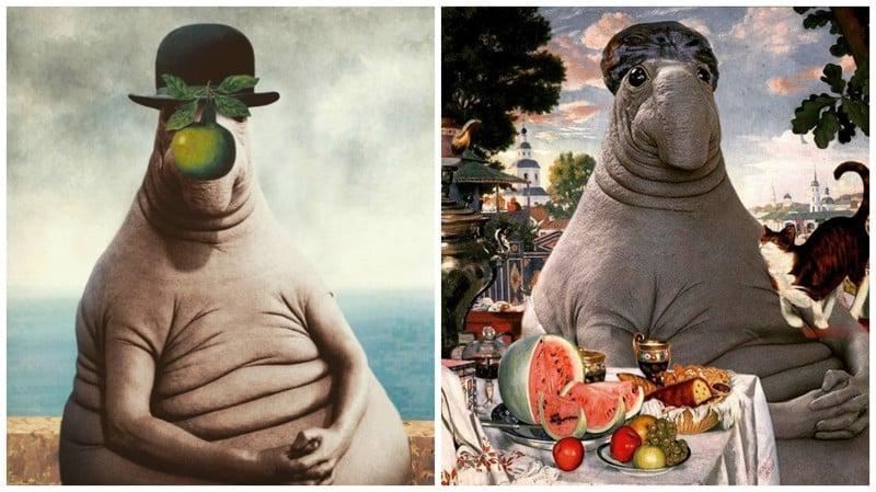 """Мем """"Ждун"""" добрался до картин великих художников"""