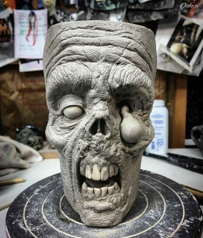 Художник делает невероятно реалистичные зомби-кружки