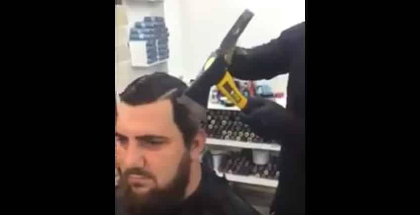 Самая брутальная парикмахерская. Видео