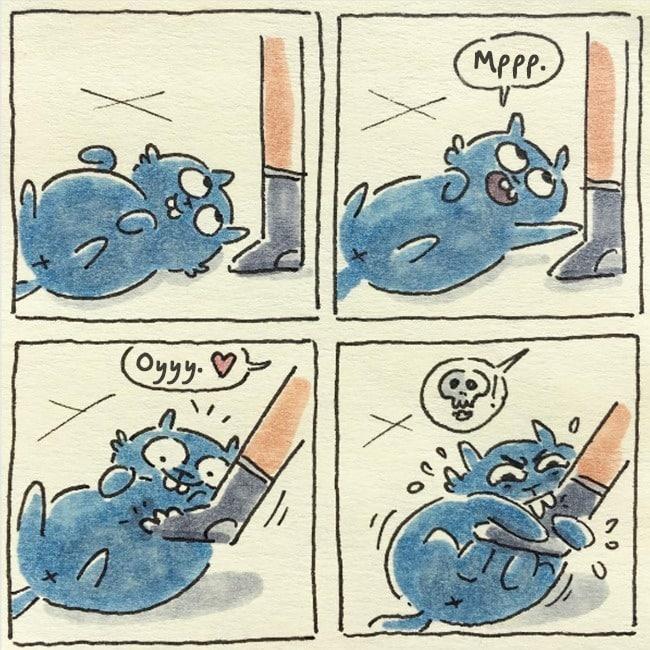 19 иллюстраций о жизни с котом, как она есть