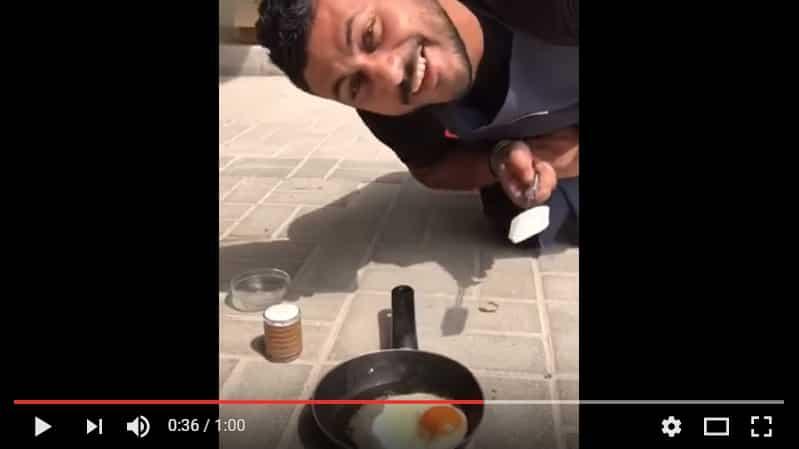 В Дубае можно жарить яйца прямо на тротуаре! Видео