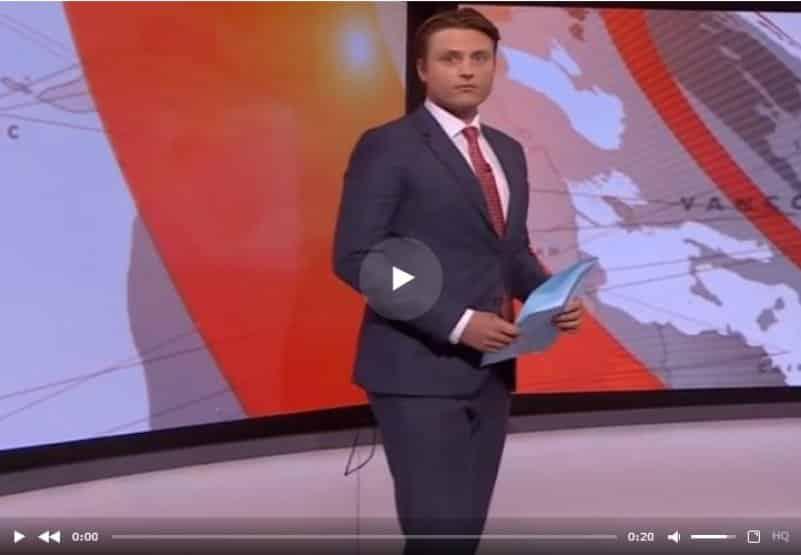 Ведущий новостей в прямом эфире заблудился среди студийных камер