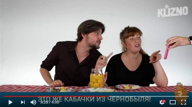 Итальянцы пробуют русские заготовки на зиму. Видео
