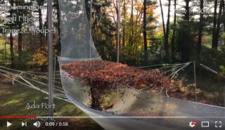 Зрелищное падение на батут с кучей листьев. Видео