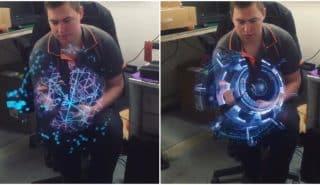 Создаваемые этими вращающимися светодиодными полосками эффекты похожи на голограммы из фантастических фильмов