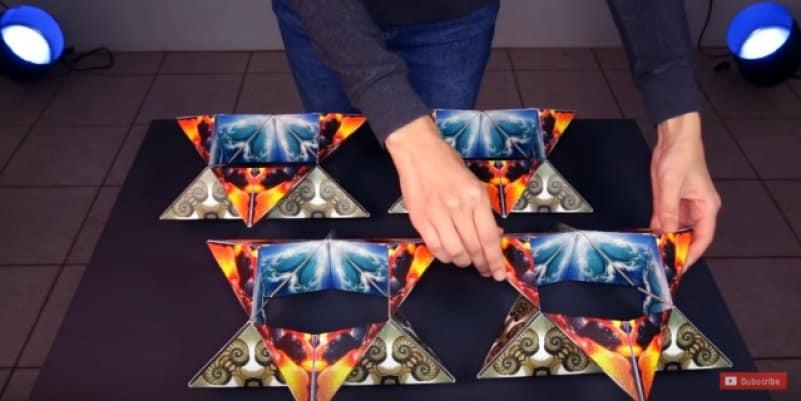 Глаз не оторвать! Уникальные трансформирующиеся чудо-кубы. Видео