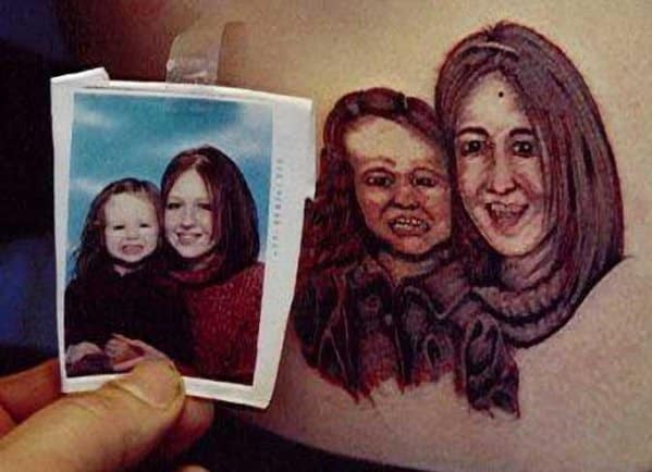 13 портретных тату, при виде которых хочется плакать...