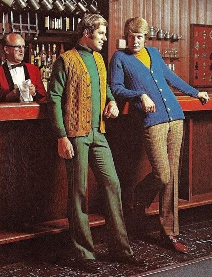 Воу воу, парни палехче! Мода мужчин 70-х, рассмешила до слез.