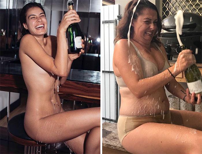15+ идеальных фото из Инстаграм, высмеянных пародисткой из Австралии рис 15