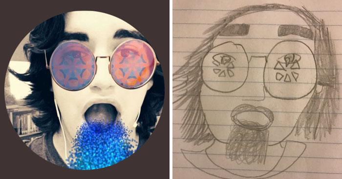 Старшеклассник рисует смешные портреты от руки и у него нет отбоя от желающих!