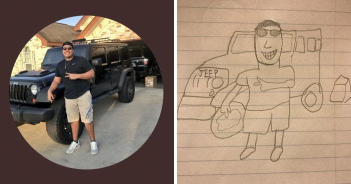 Старшеклассник рисует смешные портреты от руки и у него нет отбоя от желающих! Часть II