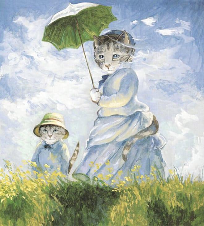 16 всемирно известных картин, героями которых выступили котики! рис 7