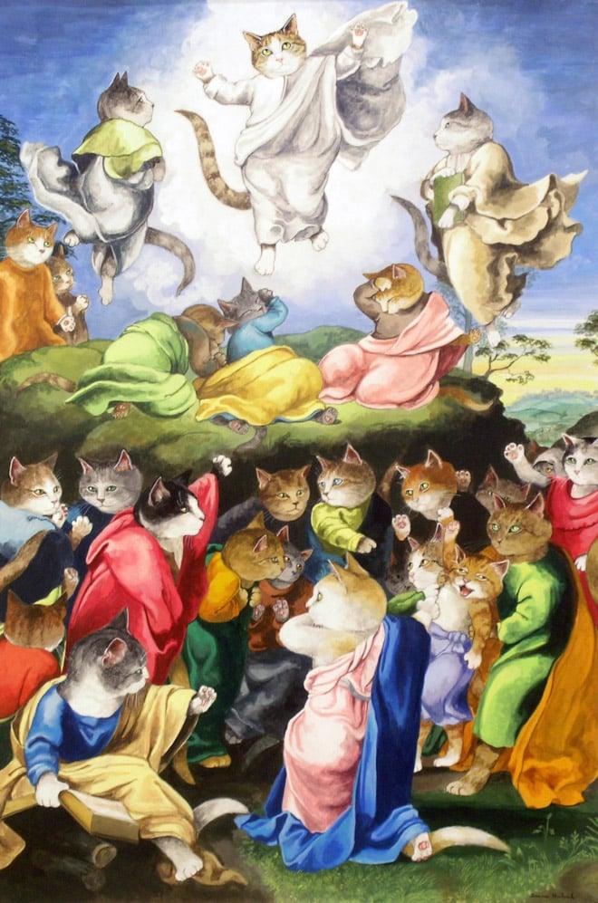 16 всемирно известных картин, героями которых выступили котики! рис 6