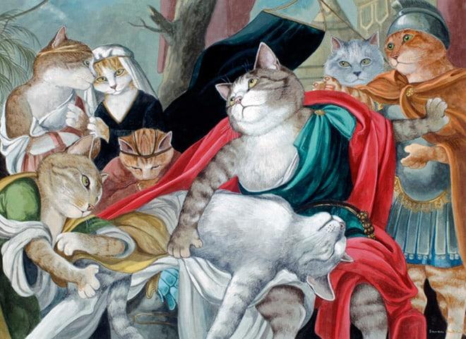 16 всемирно известных картин, героями которых выступили котики! рис 4
