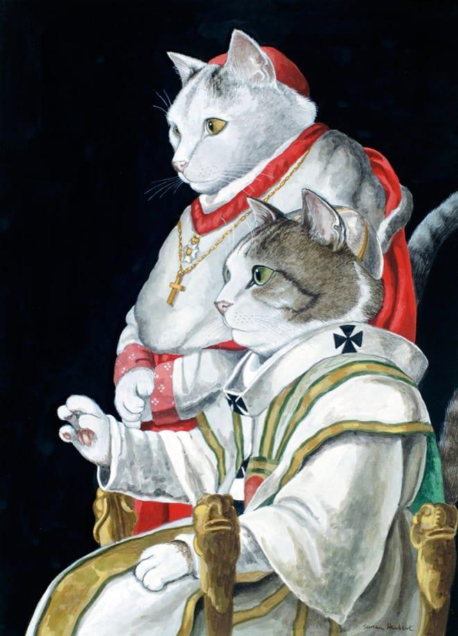 16 всемирно известных картин, героями которых выступили котики! рис 3