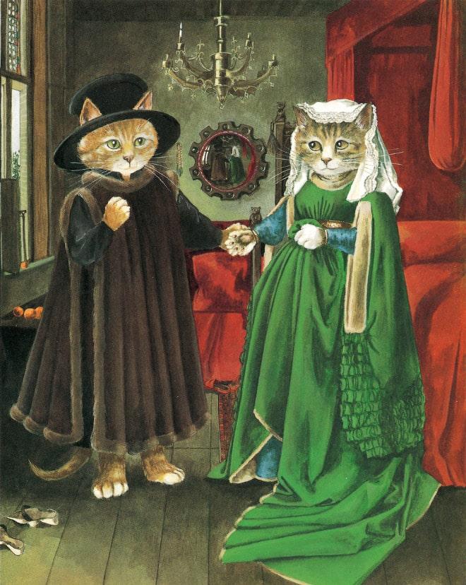 16 всемирно известных картин, героями которых выступили котики! рис 2
